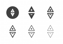 Triangle Button Icons - Multi Series