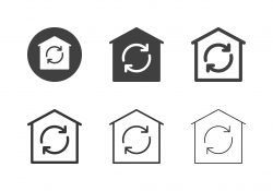 House Air Flow Icons - Multi Series