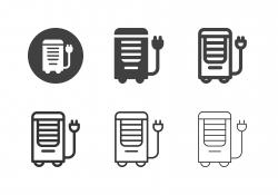 Portable Air Conditioner Icons - Multi Series