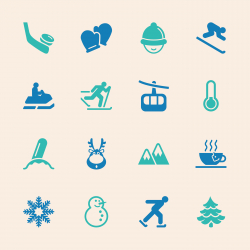 Winter Season Icons - Color Series | EPS10