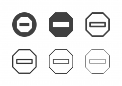 Stop Sign Icons - Multi Series