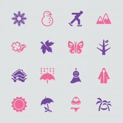 All Season Icons Set 1 - Color Series | EPS10