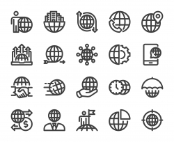 Global Business - Bold Line Icons