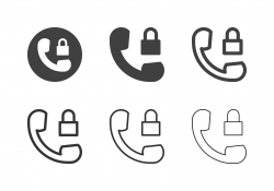 Phone Lock Icons - Multi Series
