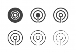 Cellular Signal Icons - Multi Series