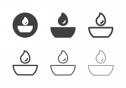 Round Tea Light Icons - Multi Series