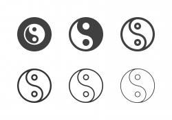 Yin Yang Symbol Icons - Multi Series