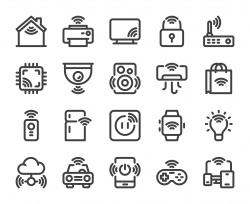 Internet of Things - Bold Line Icons