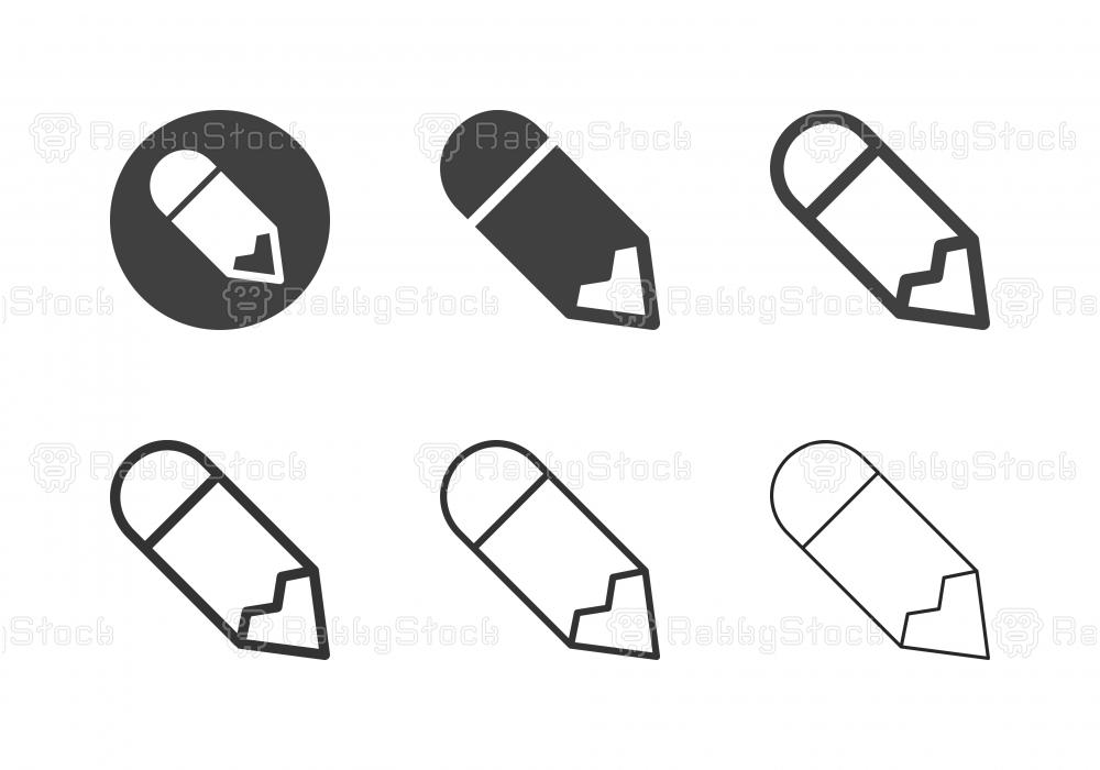 Pencil Icons - Multi Series