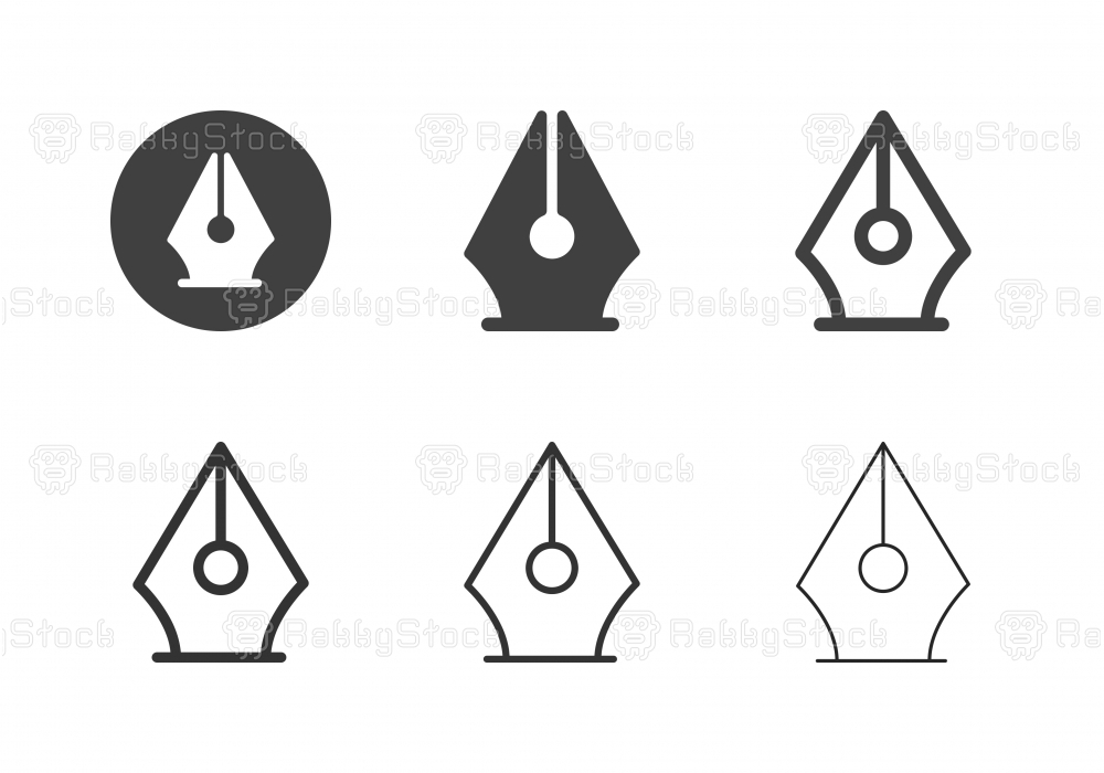 Fountain Pen Icons - Multi Series