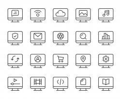 Desktop - Light Line Icons