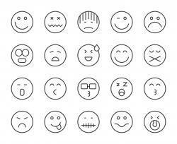 Emoji - Light Line Icons
