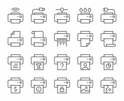Printer - Light Line Icons