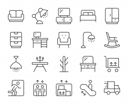 Furniture Outlet - Light Line Icons