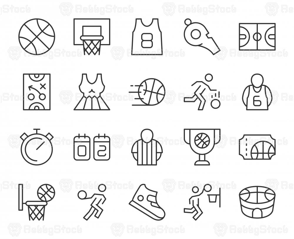 Basketball - Light Line Icons