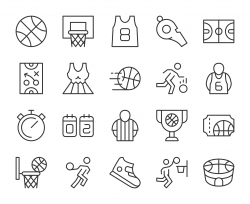 Basketball - Light Line Icons
