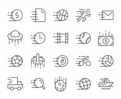 Speed Concept - Light Line Icons