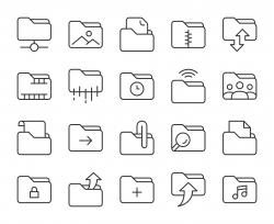 Folder - Light Line Icons