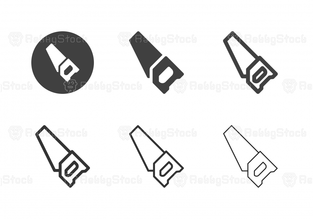 Wooden Hand Saw Icons - Multi Series
