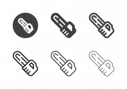Electric Chain Saw Icons - Multi Series