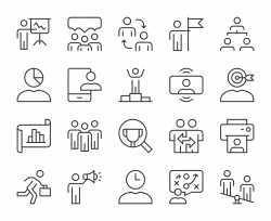 Business Management - Light Line Icons