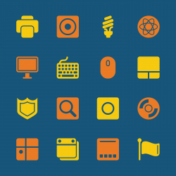 Computer System Icons - Color Series | EPS10