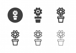 Flower Pot Icons - Multi Series