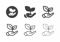 Holding Growing Plant Icons - Multi Series