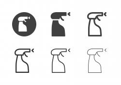 Spray Bottle Icons - Multi Series