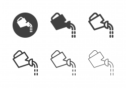 Watering Can Icons - Multi Series