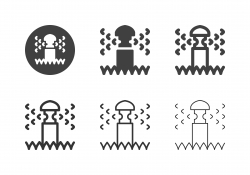 Sprinkler Watering Icons - Multi Series