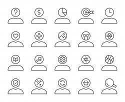 Human Mind Thinking - Light Line Icons