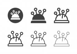 Pincushion Icons - Multi Series