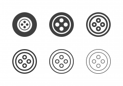 Sewing Button Icons - Multi Series