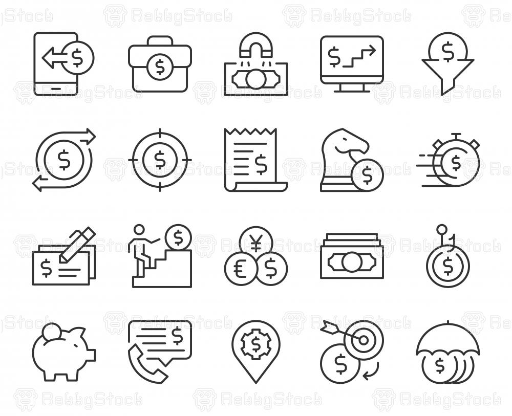 Making Money - Light Line Icons