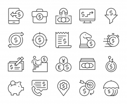 Making Money - Light Line Icons