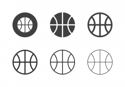 Basketball Ball Icons - Multi Series