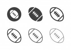 Rugby Ball Icons - Multi Series