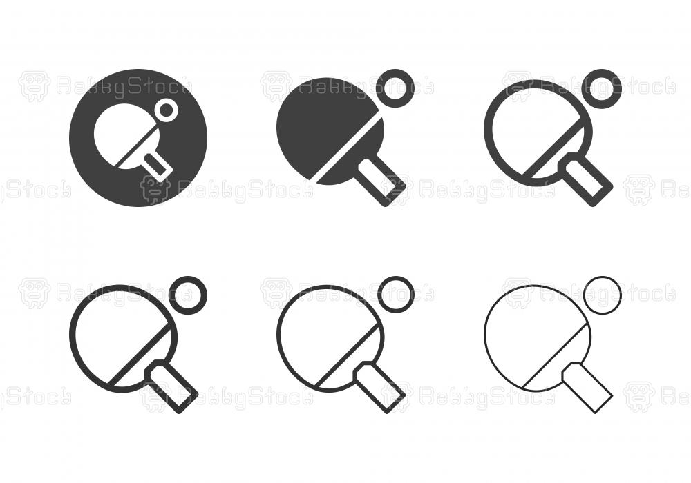 Table Tennis Racket Icons - Multi Series