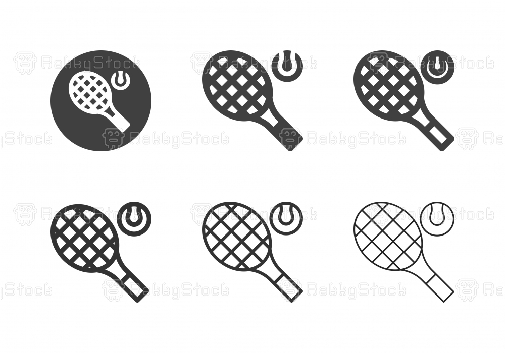 Tennis Racket Icons - Multi Series