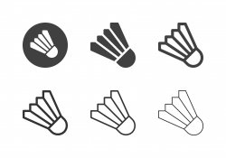 Badminton Shuttlecock Icons - Multi Series