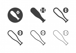 Baseball Bat Icons - Multi Series