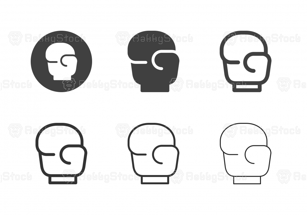 Boxing Gloves Icons - Multi Series