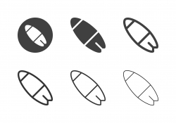Surfboard Icons - Multi Series