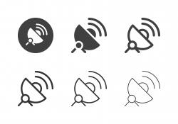 Satellite Dish Icons - Multi Series