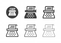 Typewriter Icons - Multi Series