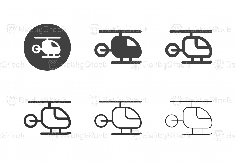 Helicopter Icons - Multi Series