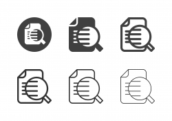 Document Search Icons - Multi Series