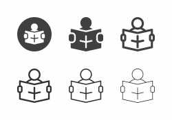 Reading Newspaper Icons - Multi Series