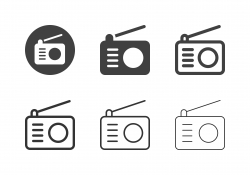 Retro Radio Icons - Multi Series